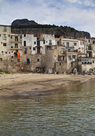 A seascape of the historic town of cefalu in Sicily Stock Photo - 18811942