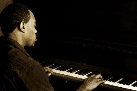 Jazz Piano Player Vintage