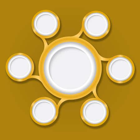 circular boxes for text Vector