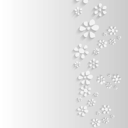 simple purity flowers: gray background with flowers Illustration