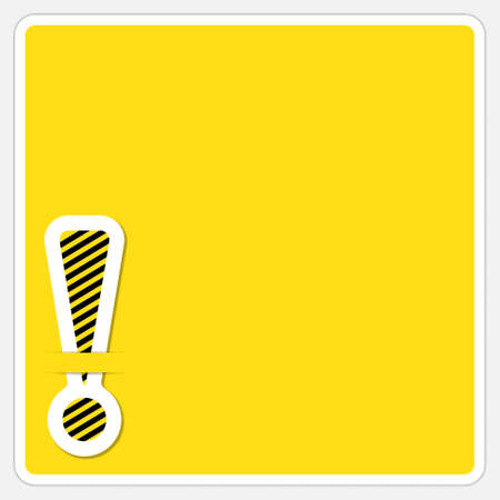 yellow pages: text box with exclamation mark