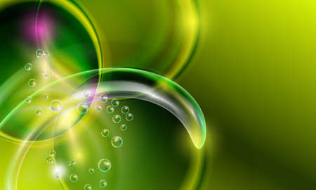 green abstract background Illustration