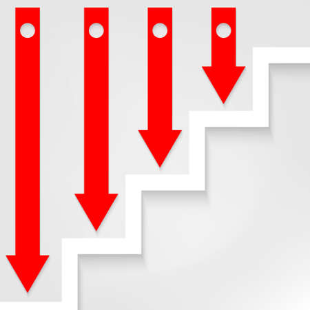 arrows and stairs Vector