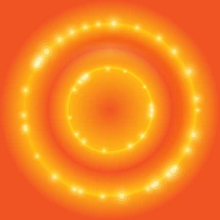 orange vector circle Illustration