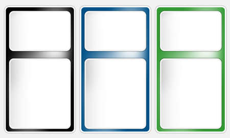 vector three text box Illustration