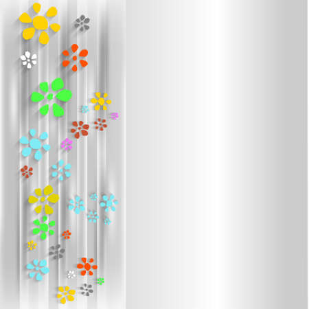 simple purity flowers: abstract background with flowers Illustration