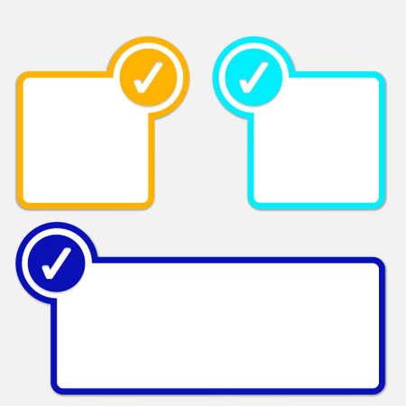 text frame with check box Vector