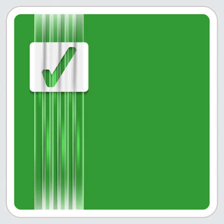 green frame for text with check box Vector