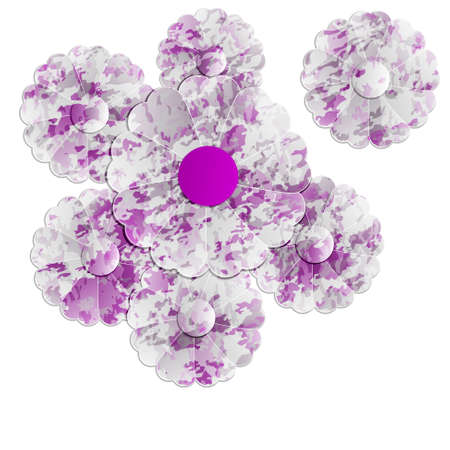 floral objects: vector violet floral objects