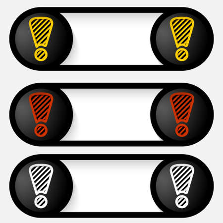 set abstract vector alert buttons Stock Vector - 22091627