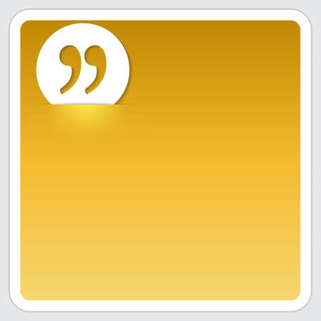 golden box for text and quotation marks