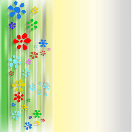 courtain: abstract background with flowers and courtain