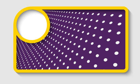 yellow abstract text frame with dots Stock Vector - 22165555