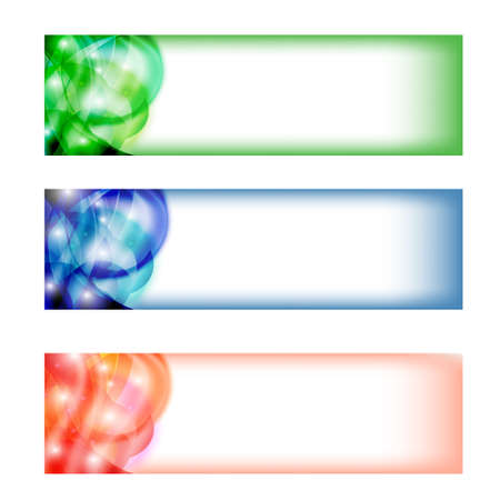 three colored: set three colored abstract banner