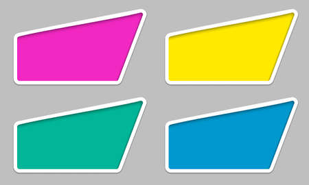 irregular: set irregular colored text frames