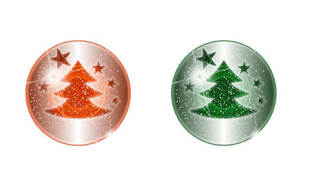 christmas motif: Magic sphere with a Christmas motif Illustration