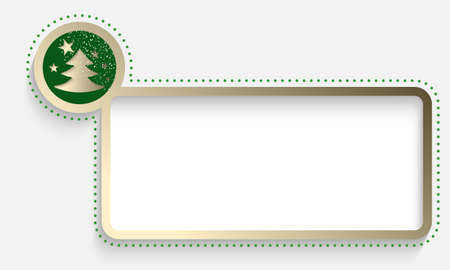 christmas motif: golden text frame with a Christmas motif and falling snow