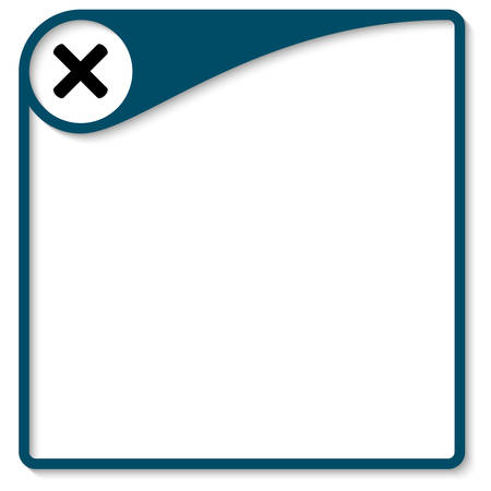 Blue frame for text with ban mark Illustration