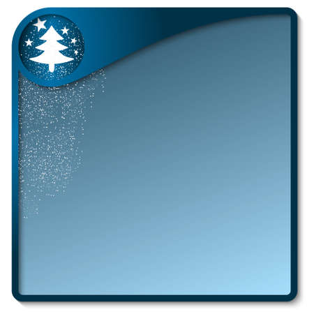 christmas motif: blue text box with a Christmas motif