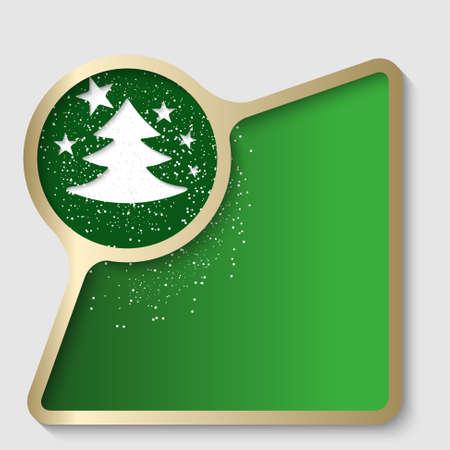 christmas motif: golden text frame with a Christmas motif