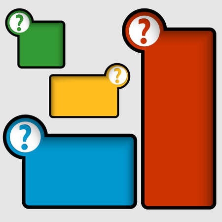 set of four frames for text with question mark Vector