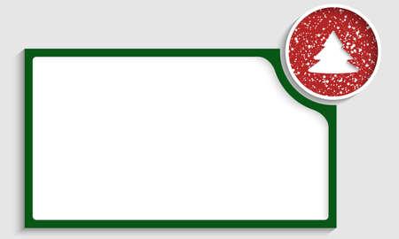 christmas motif: green text box with a Christmas motif