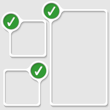 set of three frames for any text with check box Illustration
