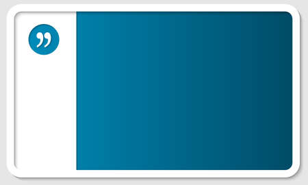 blue box for any text with quotation mark Illustration