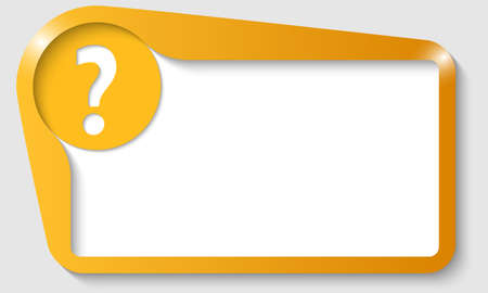 yellow text fram with question mark
