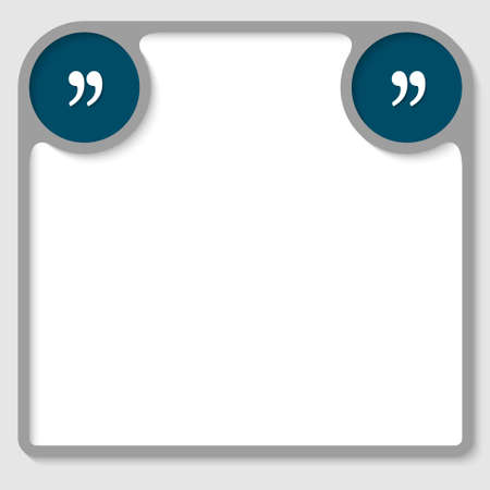 text frame with circle quotation mark