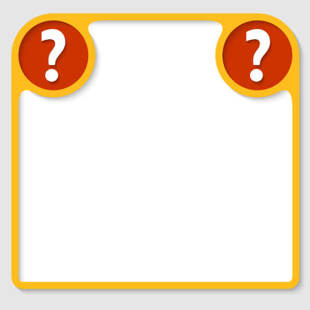 text frame with question mark Illustration