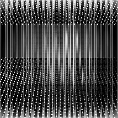 vector abstract background and white perspective lines