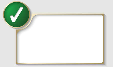 golden text frame with check box