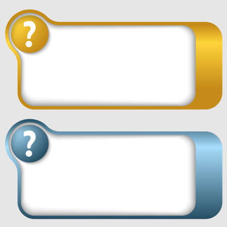 set of two abstract text frames with question mark Vettoriali