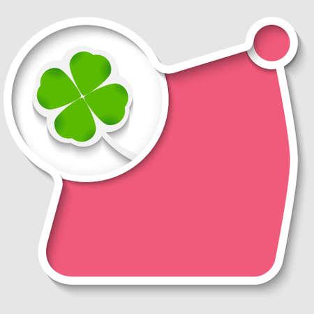 cloverleaf: abstract circular box for any text with cloverleaf