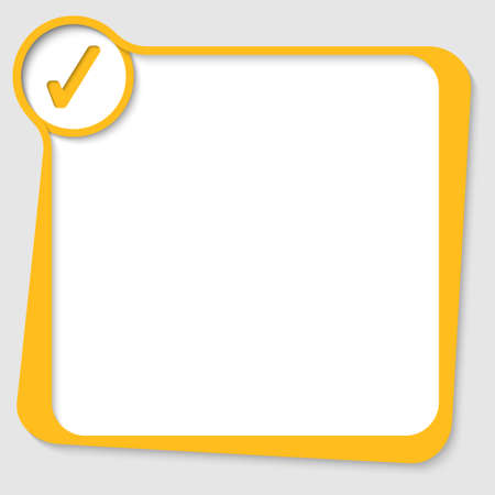 text box: yellow text box with check box