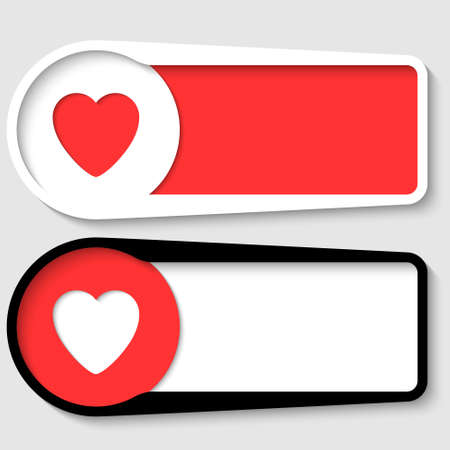 set of two boxes for any text with heart