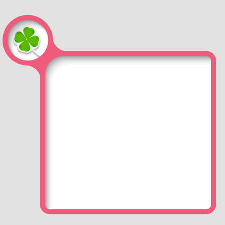 vector text frame with cloverleaf Vector