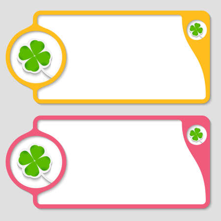 abstract text boxes with cloverleaf Stock Vector - 22591755