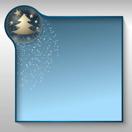 christmas motif: blue text box for any text with Christmas motif