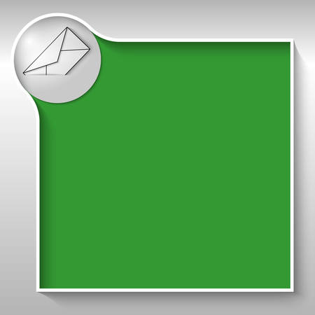 green text box for any text with envelope Vector