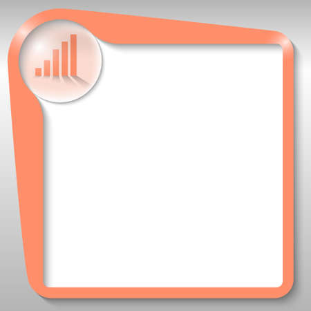 orange text box with graph Vector