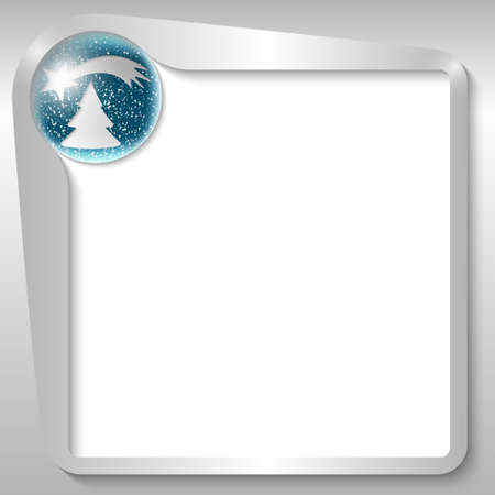 christmas motif: silver text box with a Christmas motif