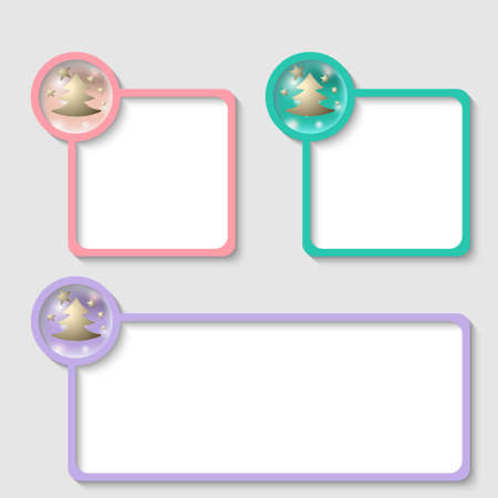 christmas motif: colored frame for any text with Christmas motif