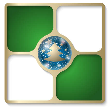 christmas motif: frames for text with a Christmas motif