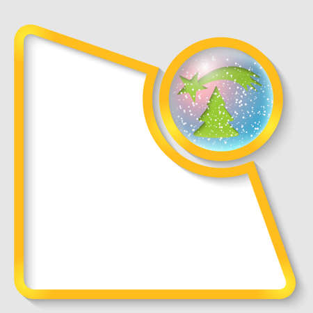 christmas motif: yellow abstract text frame for any text with a Christmas motif Illustration