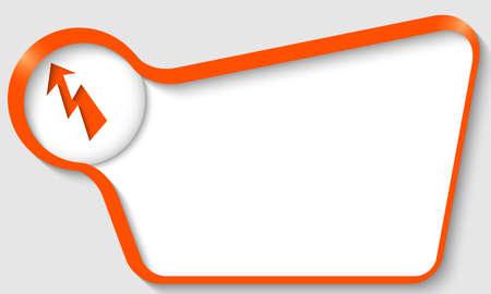 orange text box with flash