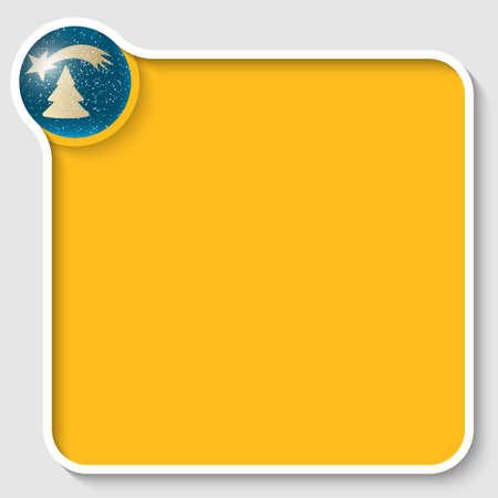 christmas motif: yellow text frame with a Christmas motif