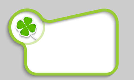 green text box with cloverleaf Stock Vector - 22893234