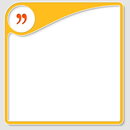 quotation: yellow frame for text with quotation mark